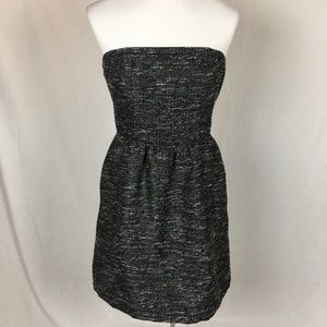 Gap tweed strapless dress, size 4